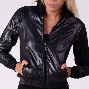 Adidas Metallic Black Medalist ZIP Track Jacket M